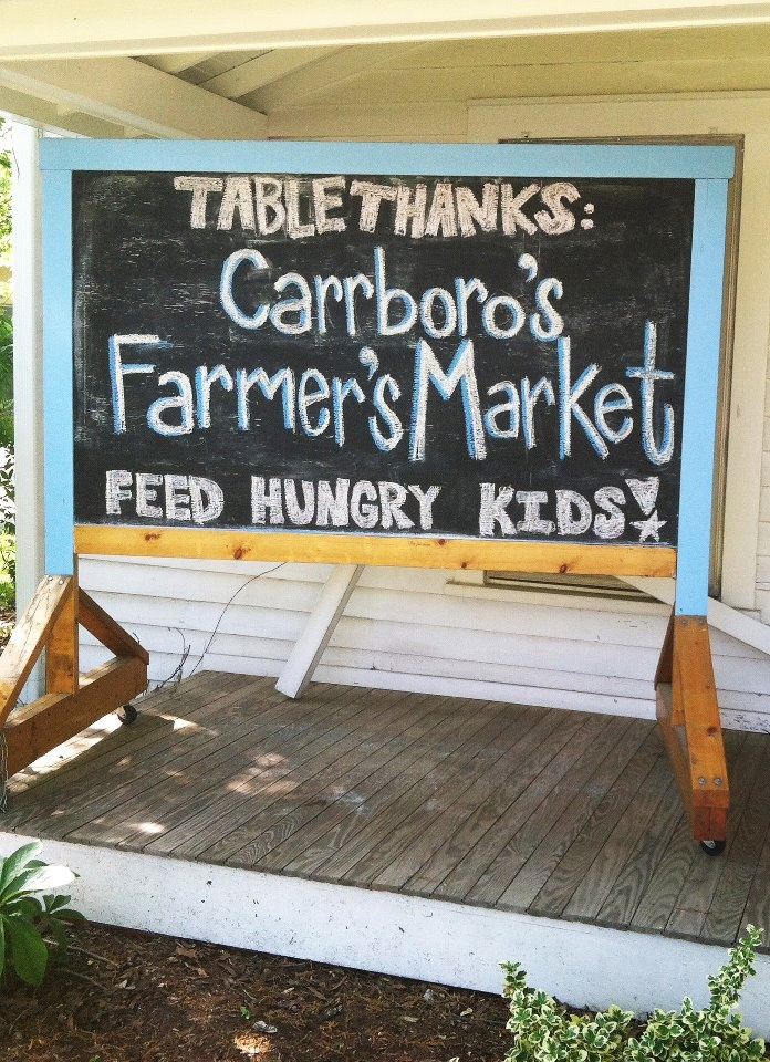 Carrboro Farmer's Market is our Saturday fave!
