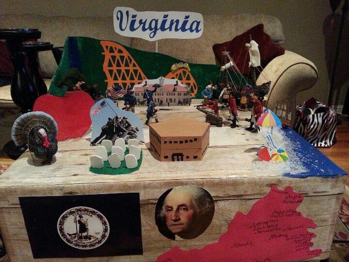 Citaten School Project : Virginia state float school project kids crafts