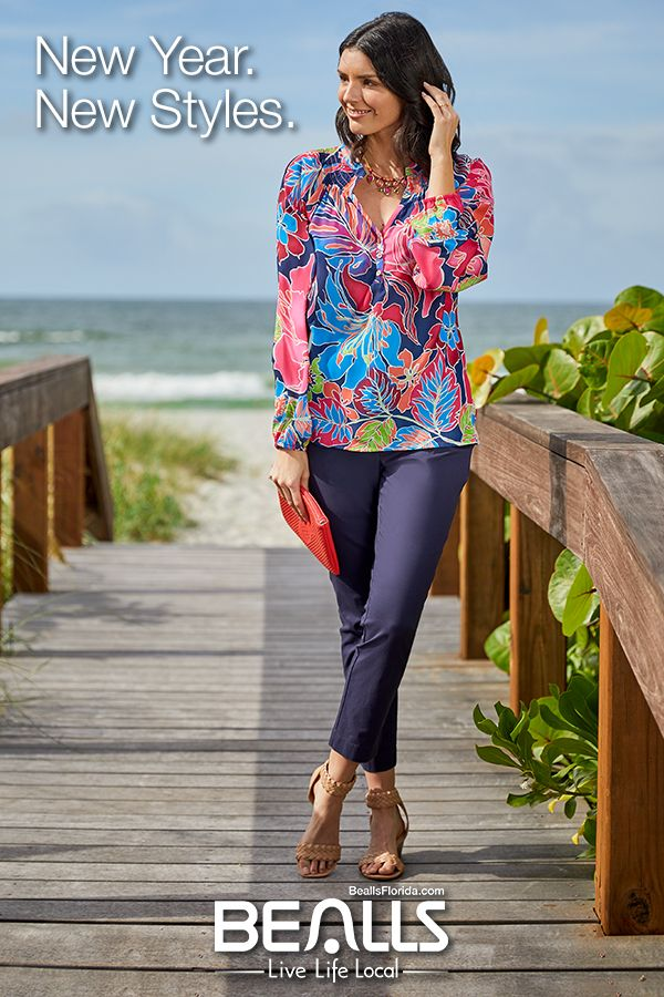 0b00e967825 Start the new year off with new styles from Bealls! Brighten your closet  with fun prints and colorful accents. From floral to stripes and  off-the-shoulder ...