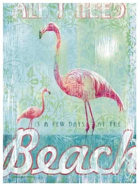 vintage beach art⚓                                                                                                                                                      More