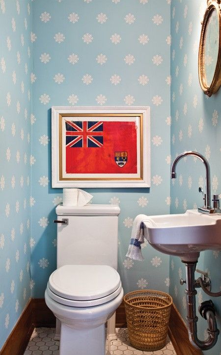 Quirky Blue Powder Room // Photographer Donna Griffith // House & Home June 2011 issue