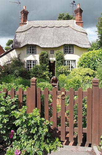 330 best images about thatched cottages paintings on for Cottage anglais