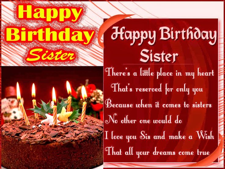 Best 25 Happy birthday for sister ideas – Birthday Sms Greetings