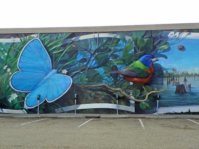 One of Robert Dafford's murals in Downtown Lafayette, Louisiana