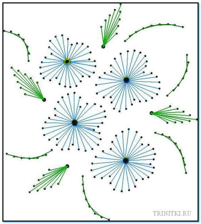 Изонить схемы цветов для открытки, юбилеем