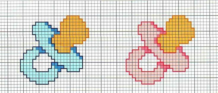 Oltre 25 fantastiche idee su ciucci su pinterest ciucci for Idee punto croce neonati