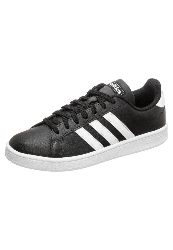 Adidas Performance Sneaker Grand Court Herren Schwarz Grosse 45 45 5 Schwarz Adidas Und Leder