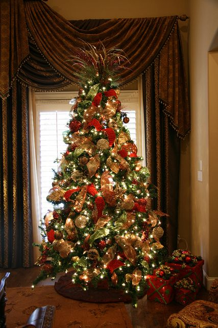 Beautiful Traditional Christmas Tree with presents