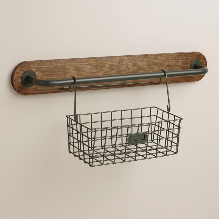 Wire Modular Kitchen Wall Storage Basket Caddy | World Market