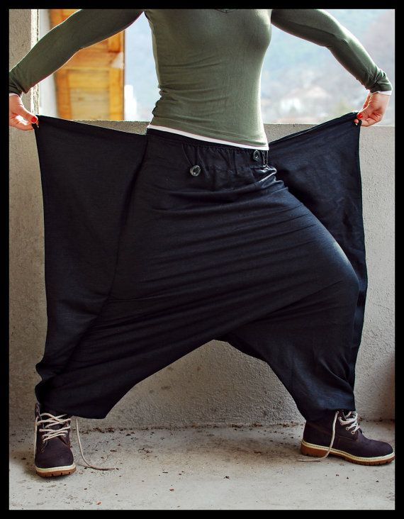 Bat Wings  Harem Pants  Sarouel  Afghan Pants  by IsNoGoodWear, $40.00