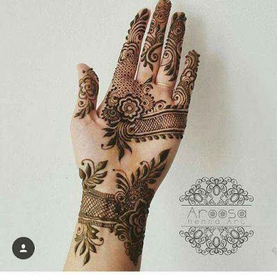 stylish beautiful full hand mehndi designs 7