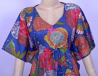 Cotton Caftan Plus Size Dashiki Dress Floral Print Summer Long Kaftan Maxi Gown