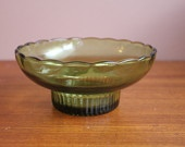 Vintage E.O. Brody Olive Green Candy Nut Bowl