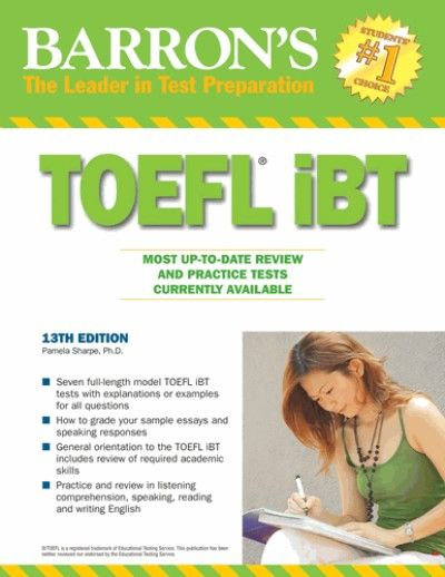 Barron's TOEFL iBT 13th Ed presents 7 model TOEFL iBT tests with explanations or examples for all questions, including sample essays and speaking responses featuring: - Seven full-length model TOEFL iBT tests mirror the genuine tests long, structure, inquiry sorts, and level of trouble - Answers to every single test inquiry, including example papers and talking reactions - An audit of obliged scholastic abilities incorporates note taking, rewording, abridging, and combining - A survey of…