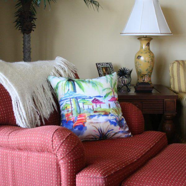 Caribbean Time Pillow – Coastal Living, Tropical Decor