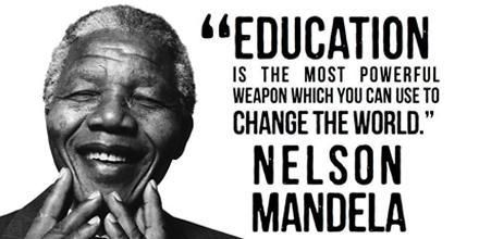 """Education is the most powerful weapon which you can use to change the world."" - Nelson Mandela pic.twitter.com/6t6eXnVtuC"