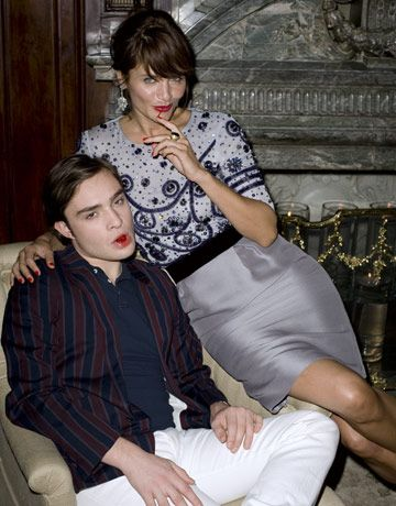 Helena Christensen and Ed Westwick