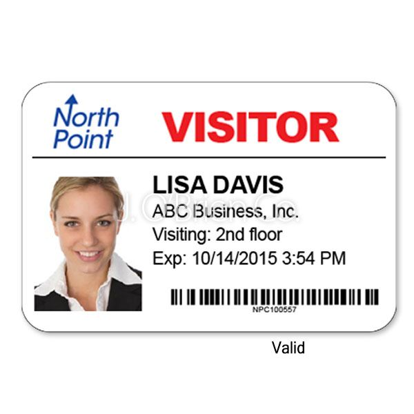 Customized Passes Hosting Company Visitor Badges Good Company