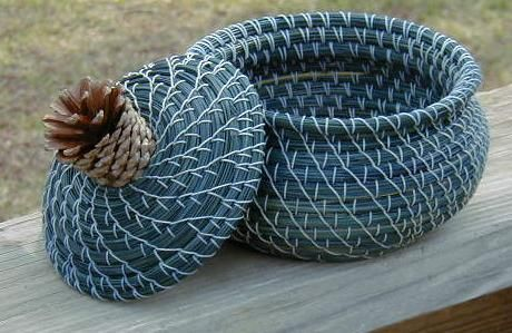 Pine Needle Baskets  by Lynn & Sue Van Couvering  and Lindsey Uribe