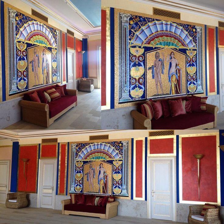 Egy újabb fantasztikus #sicis #kezmuves #mozaik designed by @leo_emotionofdesign: #interior #interiordesign #mindenmozaik #everythingismosaic #artistic #muveszi #art #interiordesigner #classicinterior #swimming #swimmingpool #pool #goldmosaic #sicismosaic #artmosaic #poolstyle #spa #spadesign