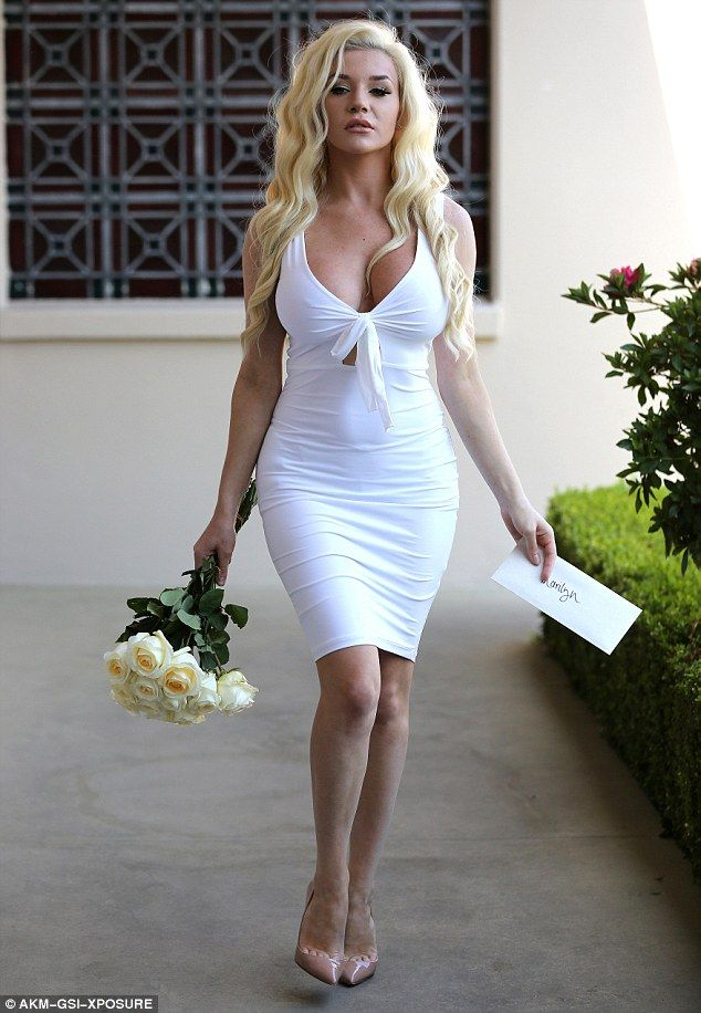 Paid tribute: On Friday, Courtney Stodden visited the grave of Marilyn Monroe - which marked 54 years since her death