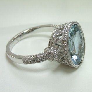 acquamarina e diamanti