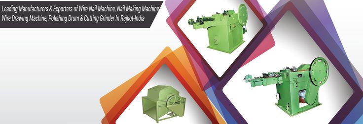 Function of Wire Nail Making Machine Manufacturers is the machine cut the coil wire into nails and makes complete nails with high speed and low noise In India.