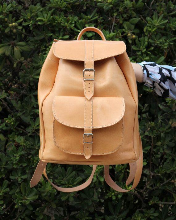 Handmade Leather Backpack Extra Large Leather one pocket