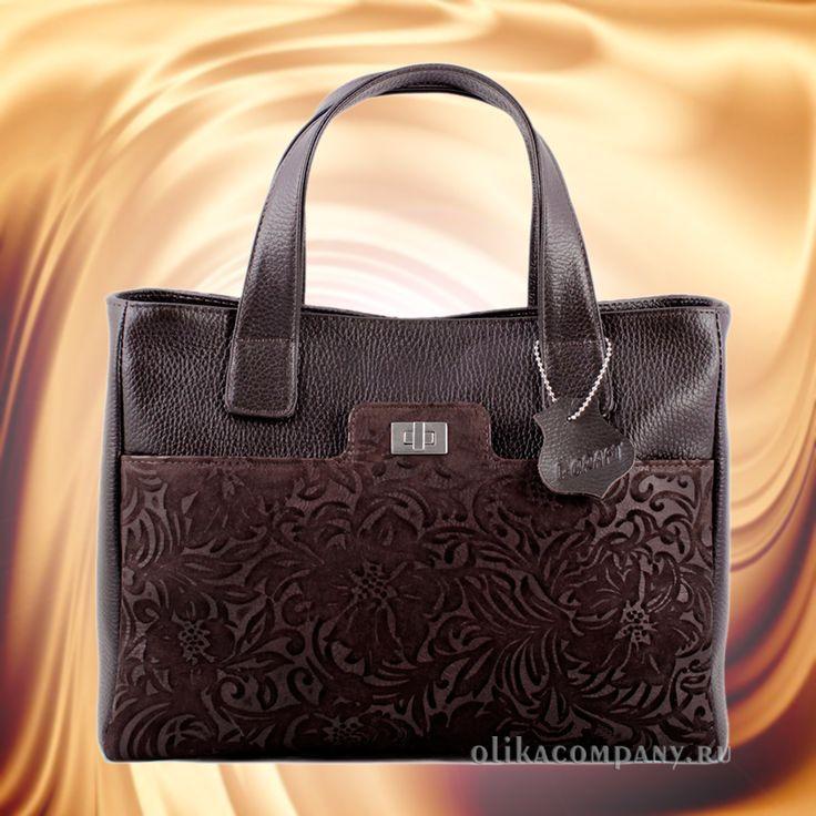 Женская сумка L15-1 замша цветы, размеры 33*12*25 см 6900 руб #сумки #сумка #мода #кожаная