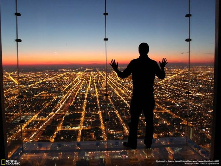 Chicago. Sky Deck!  I actually worked up the nerve to step out