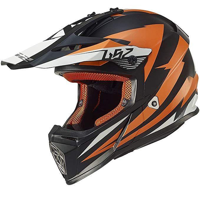 Ls2 Helmets Fast Mini Race Youth Off Road Mx Motorcycle Helmet Orange Large Review Ls2 Helmets Motorcycle Helmets Helmet