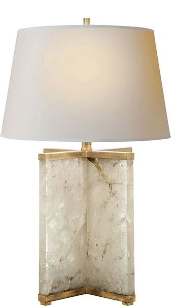 cameron table lamp in quartz designed by j randall powers for visual comfort