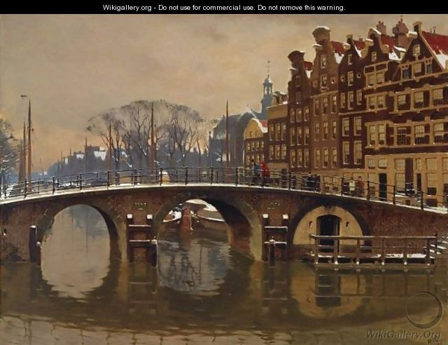 Willem Witsen(Dutch, 1860-1923), A Wintry View Of The Brouwersgracht, Amsterdam, 1910