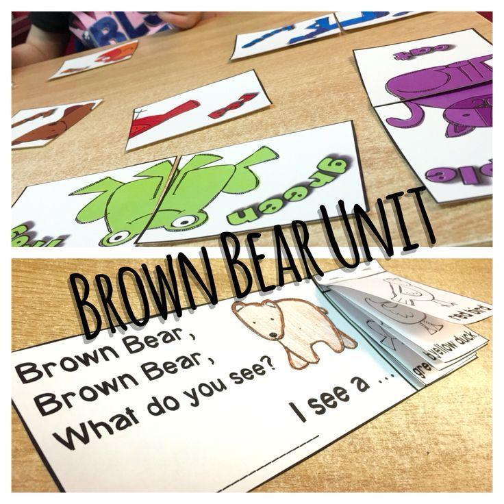 Brown Bear Brown Bear Activity pack with lots of related worksheets! Bear Bear Flap book, Bingo game, matching game, and spin and graph game!
