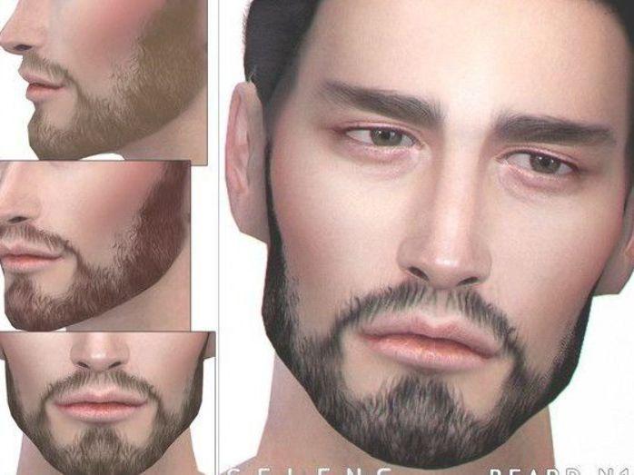 Sims 4 Cc Custom Content Facial Hair Seleng S Beard N15 In 2020 Sims 4 Body Hair Mens Facial Hair Styles Mens Facial