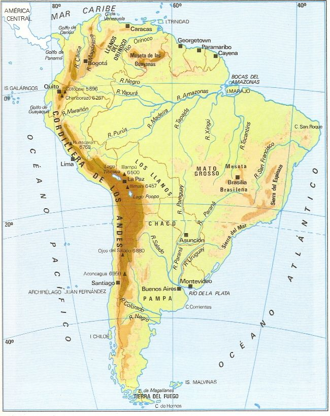 America Fisica Social Geografia Universal De Aplicaciones