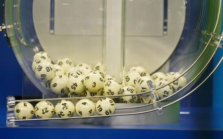 The winning Powerball numbers are shown after being drawn at the Florida Lottery studio in Tallahassee Florida