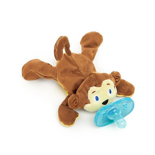 Bright Starts Cozy Coos Deluxe Pacifier Monkey Lost