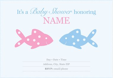 Twin Shower - Personalize Your Invitations