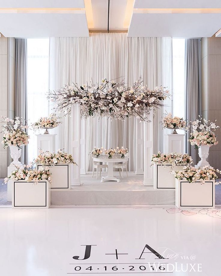 """1,344 Likes, 13 Comments - WedLuxe Media (@wedluxe) on Instagram: """"We can't tear our eyes away from this showstopping #reception. The graphic pops of black offer the…"""""""