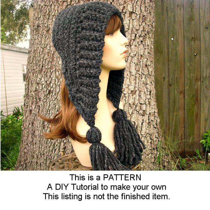 Crochet Pattern - Crochet Hat Pattern PDF for Tassel Hat - Winter Fashion Winter Accessories. $5.00, via Etsy.
