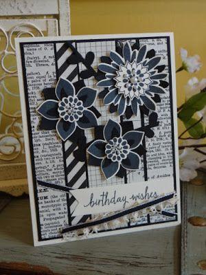 #inkadoodlecreations, #stampinup, #fridaymashup, flower patch, handmade birthday cards