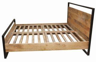 Łóżko (160x200 cm) - kolekcja meble Industrialne