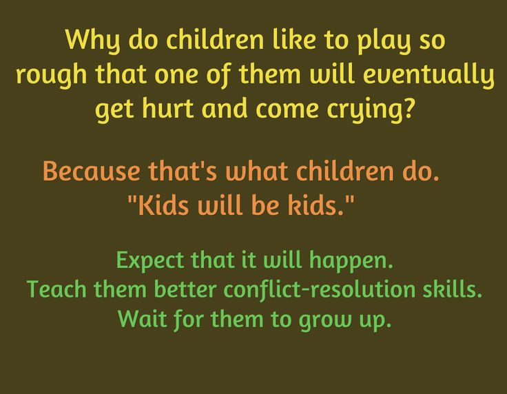 Expect kids to fight. Help them through it.