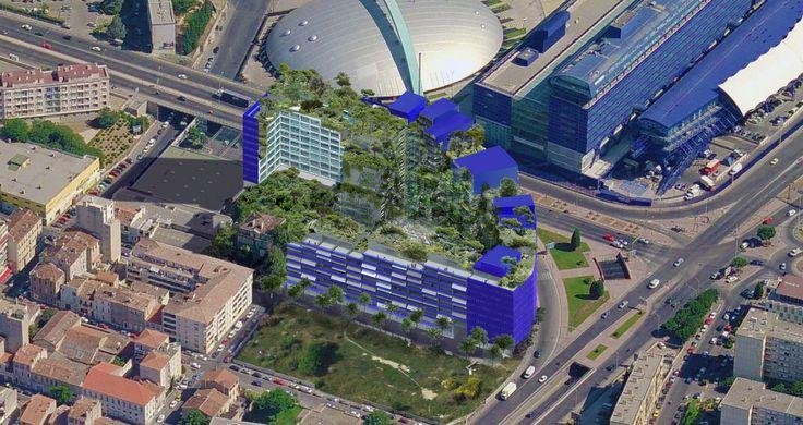 Le projet d'environ à 30 000 m² de surface hors œuvre nette (SHON), comprendra un espace vert à l'intérieur et des façades plantées afin de reconstituer un paysage méditerranéen proche de celui des calanques.