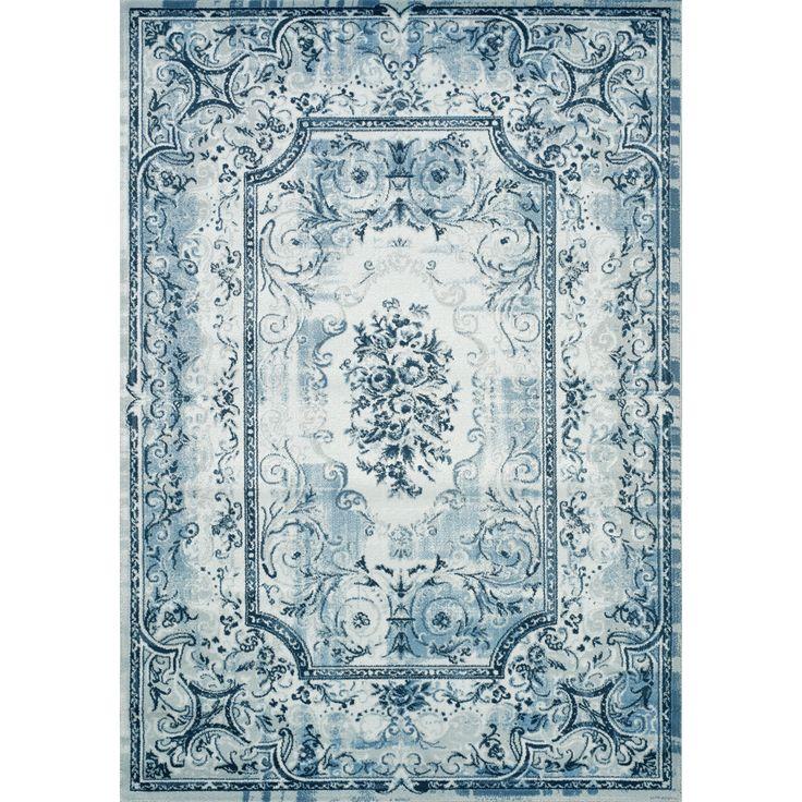 Blue Area Rugs | Kalora Platinum Traditional White U0026 Blue Area Rug U0026  Reviews | Wayfair