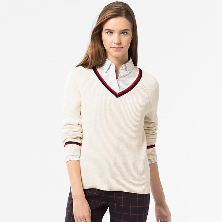 WOMEN COTTON CASHMERE CRICKET SWEATER