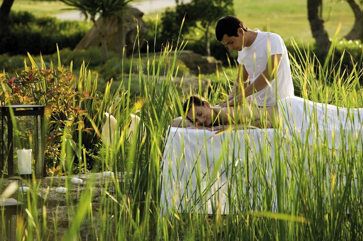 Al fresco spa treatment at Porto Sani Village