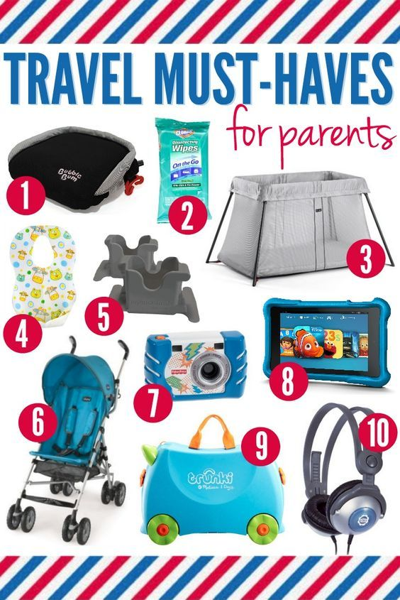 Traveling with kids is tough! Here are 10 Travel Must-Haves for Parents that will make your next vacation with kids a little easier. #1 and #10 are HUGE favorites.