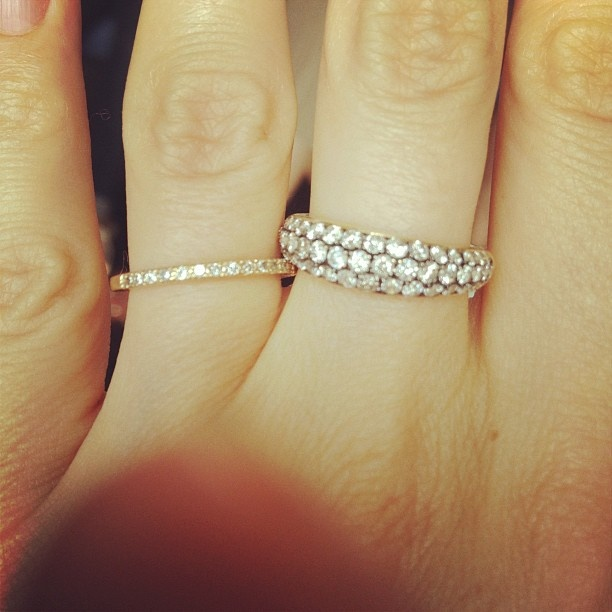 I Want A Middle Finger Diamond Band Ring Something Simple